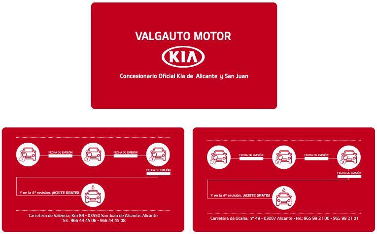 Nueva tarjeta de fidelidad taller Valgauto Motor Kia Alicante y San Juan