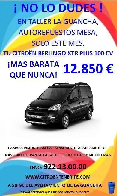 Durante este mes tu nueva citroen berlingo XTR PLUS 20 ANIVERSARIO por 12.850€!!
