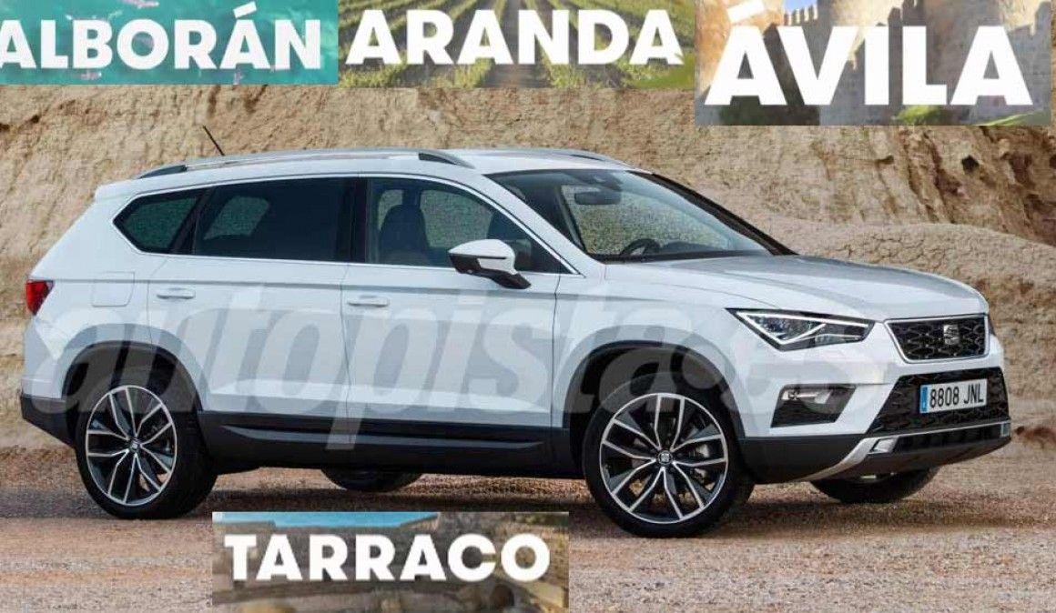 El SUV de Seat de hasta 7 plazas, a falta de una confirmación oficial,adoptará el nombre de Ávila, Alborán, Aranda o Tarraco.