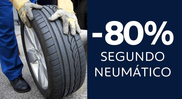 Oferta exclusiva neumáticos: 80%
