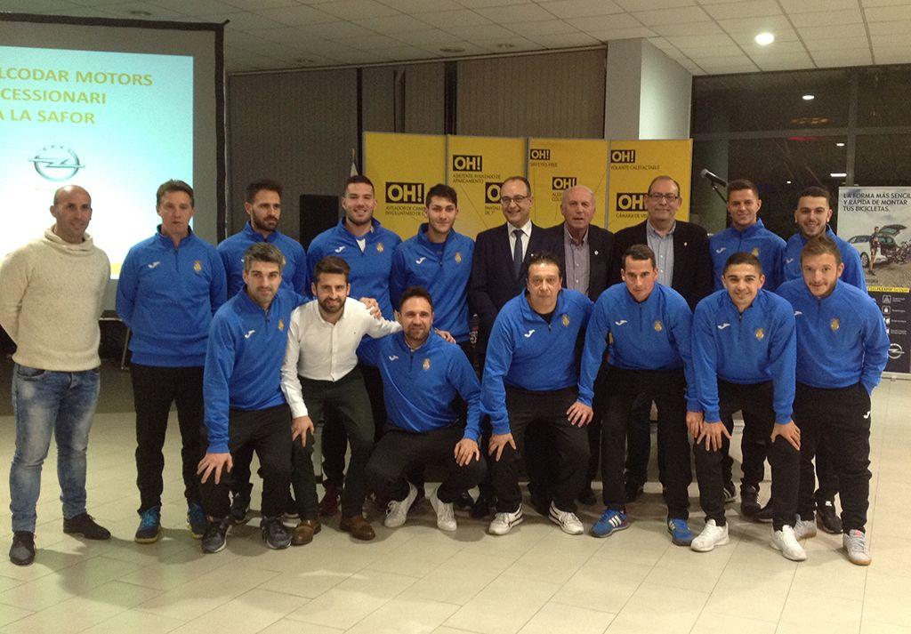 Opel Gandia Alcodar Motors acoge la presentación del Club de Fútbol Gandía