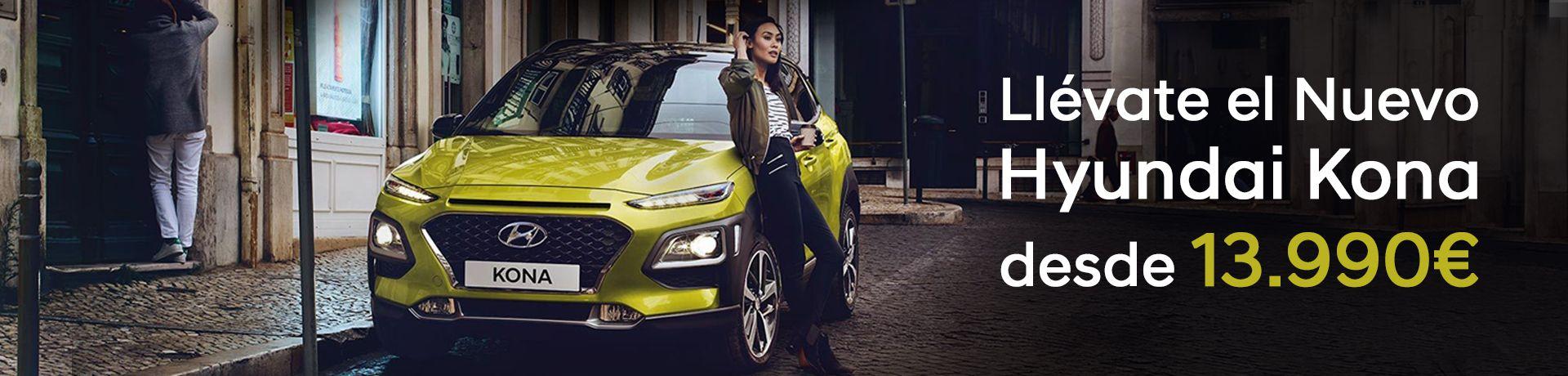Llévate el Nuevo Hyundai Kona desde 13.990€