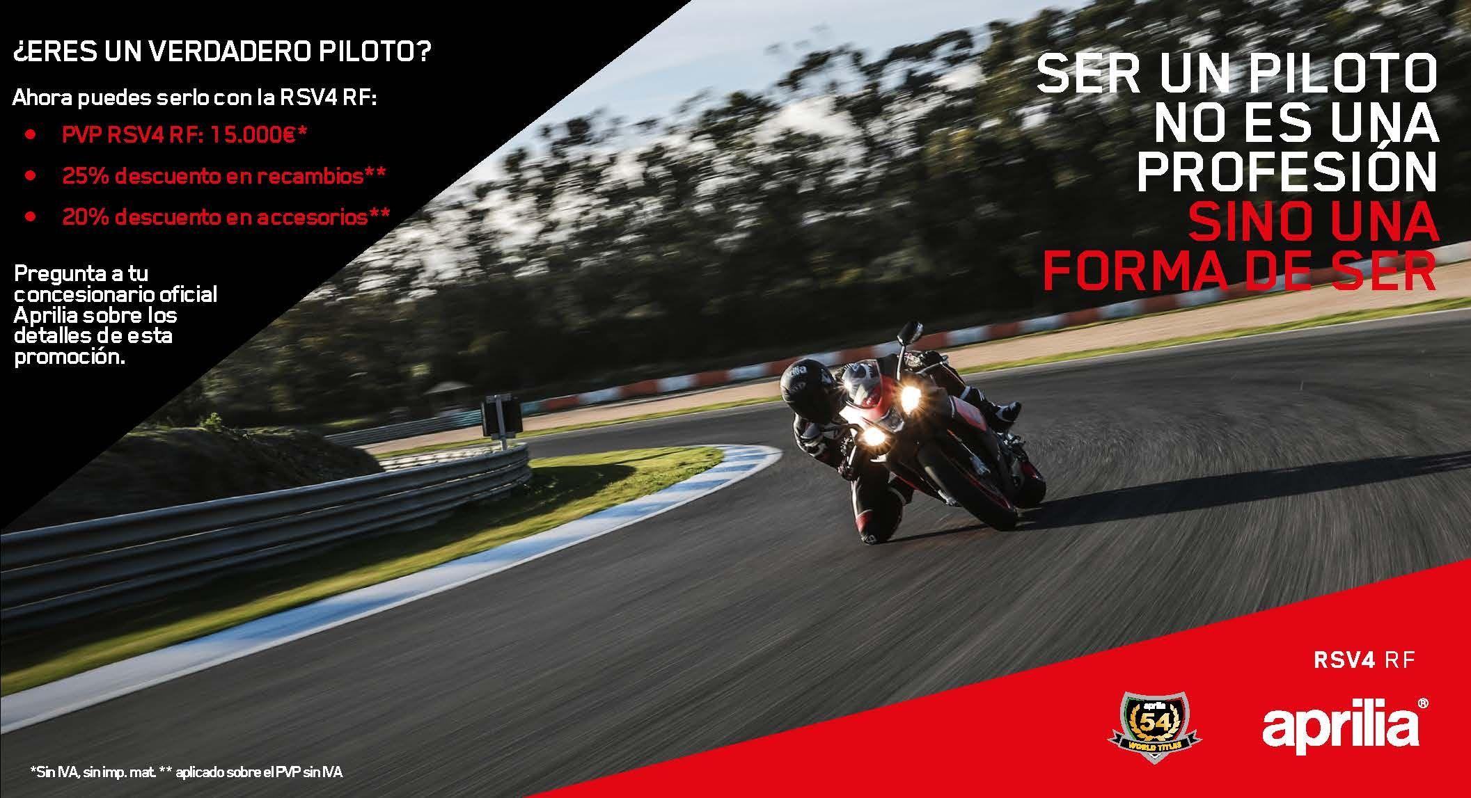 Promoción Aprilia RSV4 RF para pilotos federados