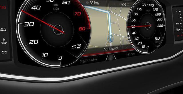 La instrumentación digital llega a los SEAT León y Ateca: También el equipo Beats Audio