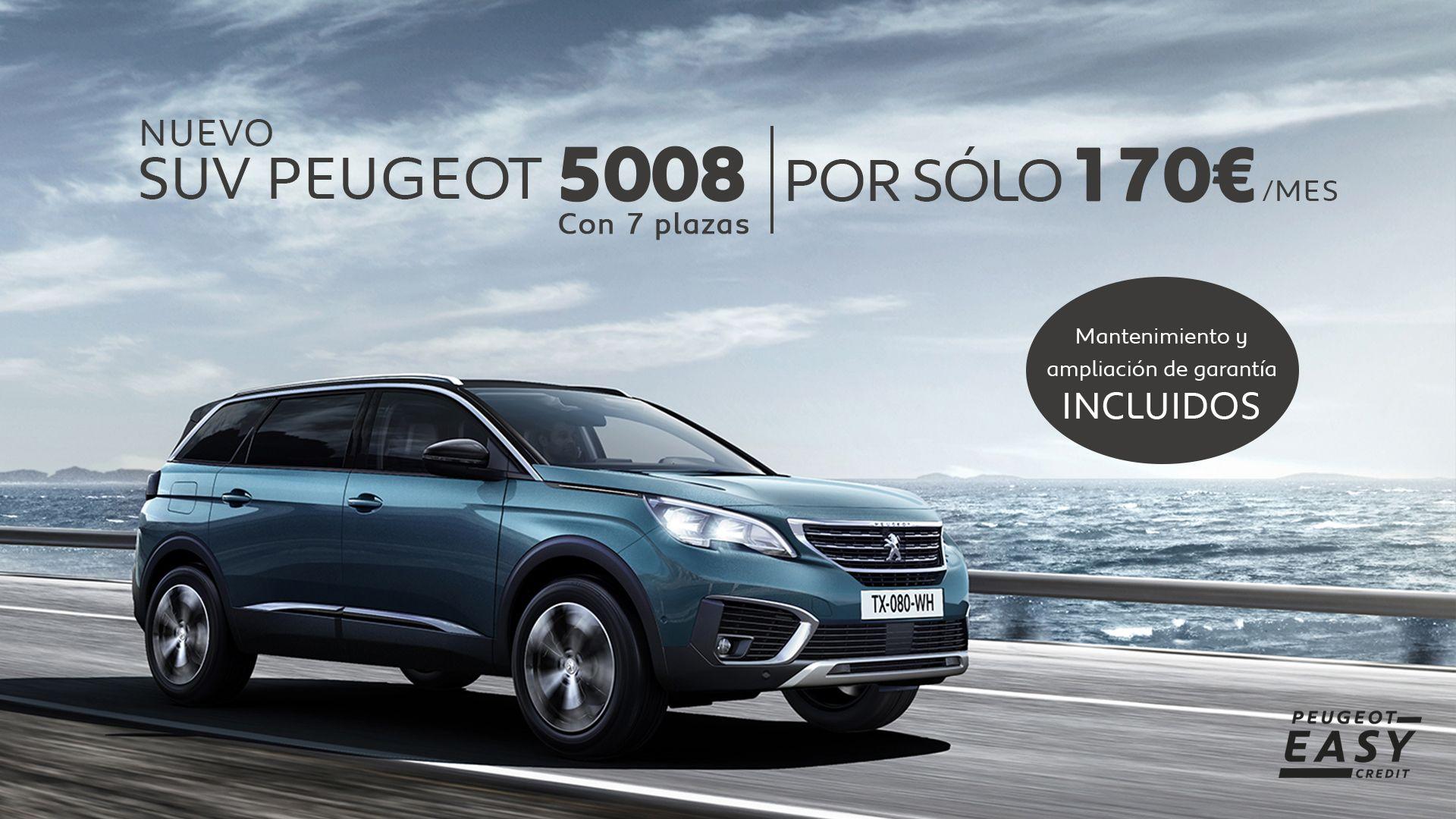 CONDUCE EL NUEVO SUV PEUGEOT 5008 POR SÓLO 170€/MES