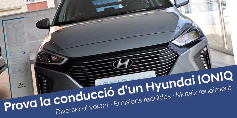 Prova el Hyundai IONIQ: diversió al volant, emissions reduides, mateix rendimiento