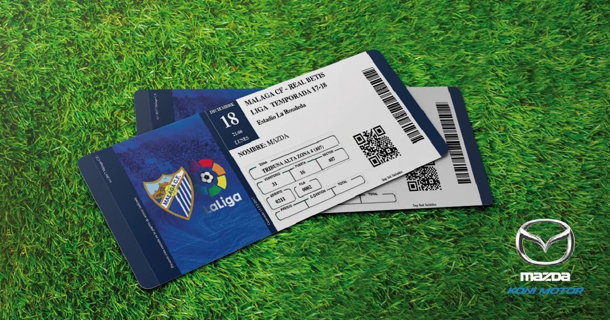 Sorteamos dos entradas dobles para el partido Málaga - Betis en la Rosaleda