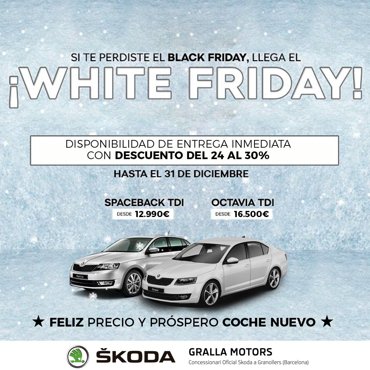 Arriba el White Friday a Gralla Motors