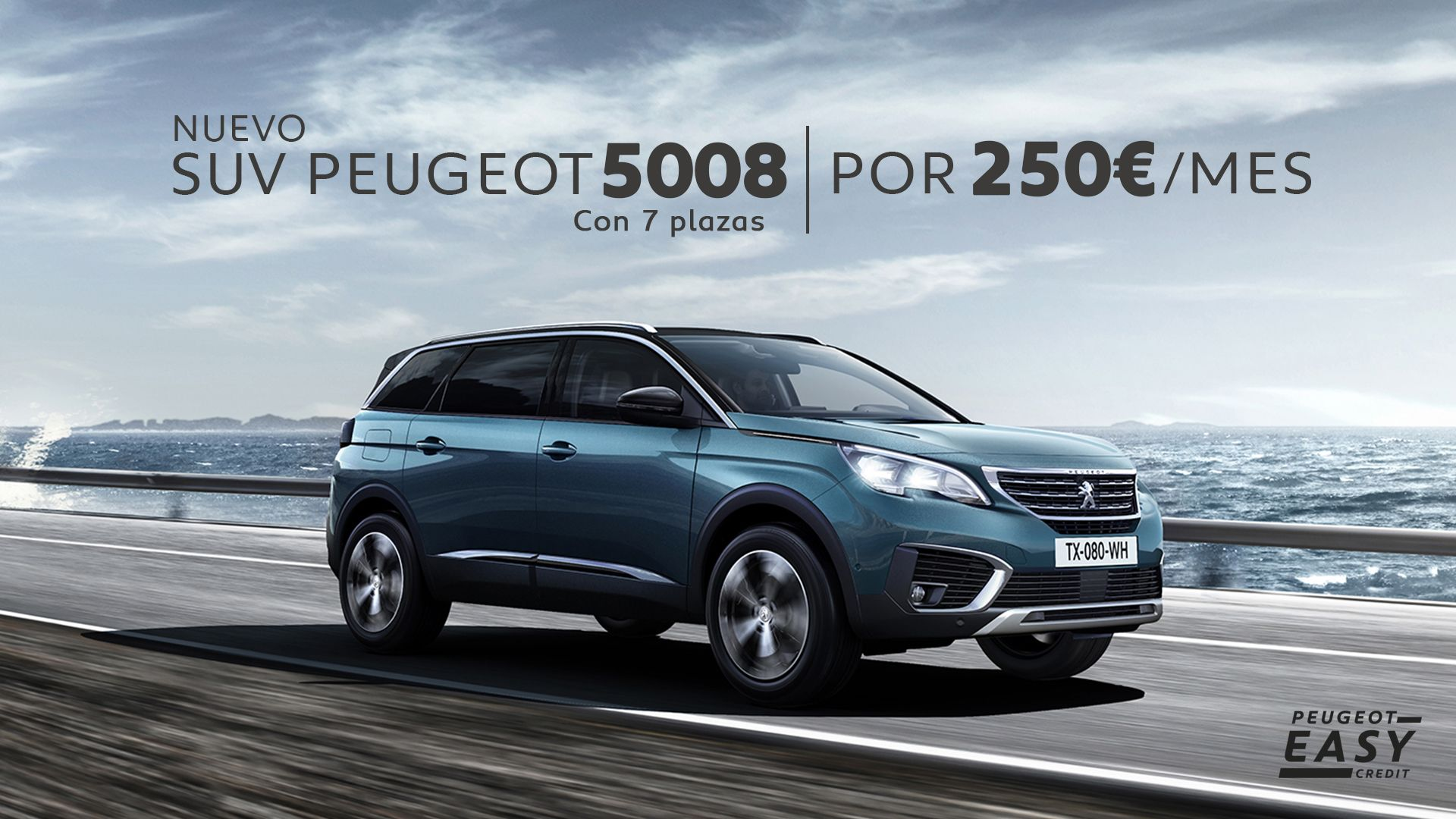 Llévate un SUV 5008 por 250€/mes con el primer mantenimiento gratis