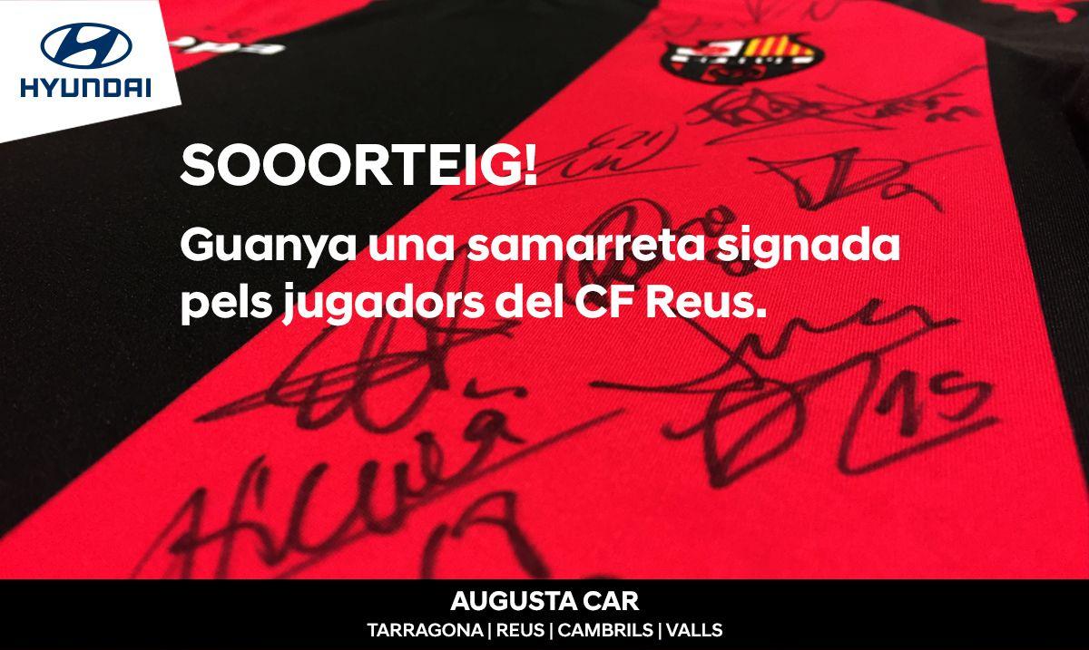 Sorteamos una camiseta firmada por los jugadores del primer equipo del CF Reus
