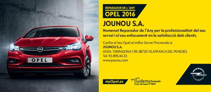 OPEL JOUNOU: REPARADOR DE L'ANY 2016
