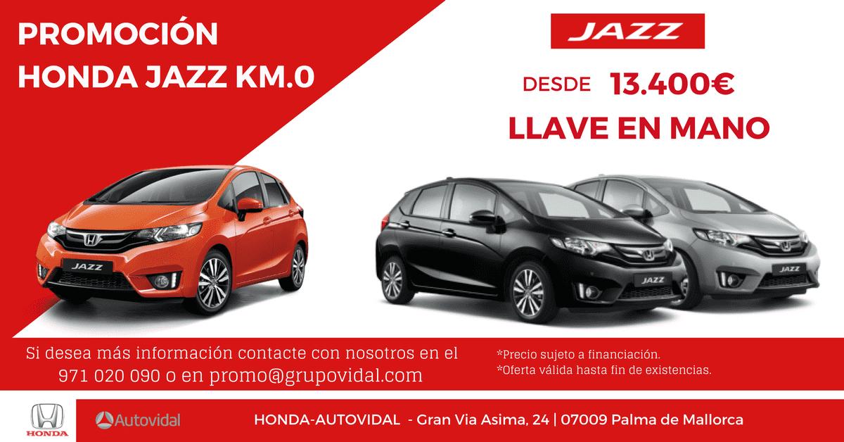 PROMOCIÓN HONDA JAZZ KM.0 desde 13.400€