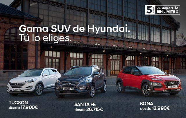 Disfruta este mes de la gama SUV de Hyundai desde 13.990 €