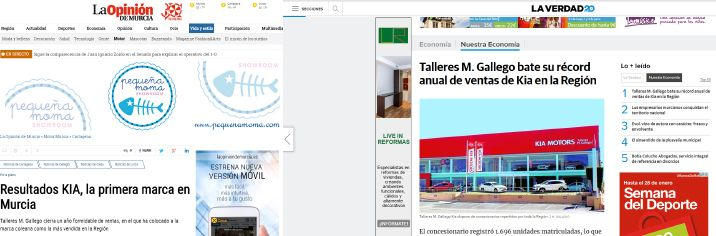 Los principales medios de la Región se hacen eco de los resultados de Kia M. Gallego