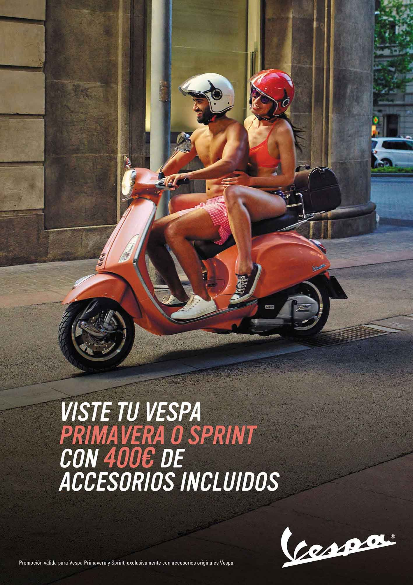 400€ de accesorios gratis al comprar tu Vespa Primavera o Vespa Sprint