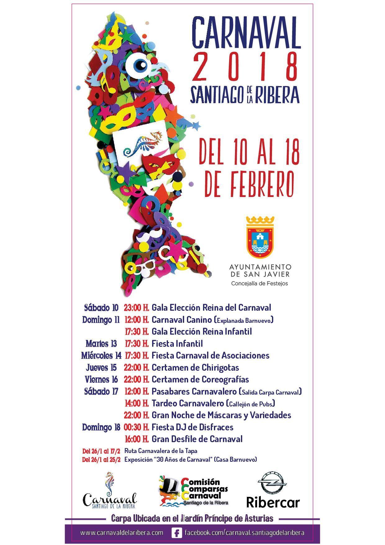 Patrocinador oficial de carnaval de Santiago de la Ribera 2018