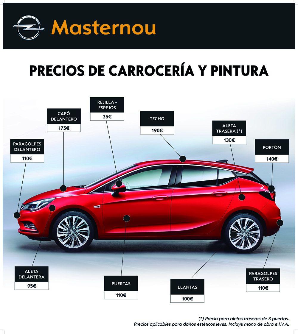 Repara tus daños estéticos en Opel Masternou