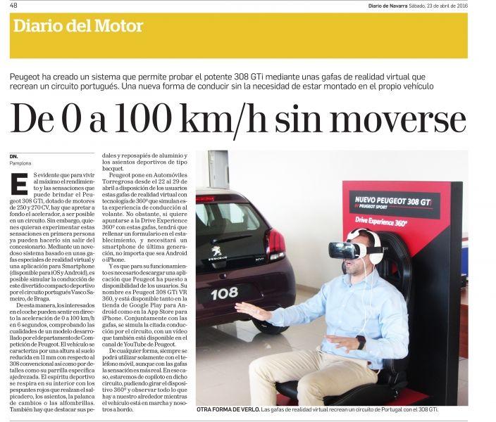 Hoy hemos sido Noticia en el Diario del Motor del Diario de Navarra.