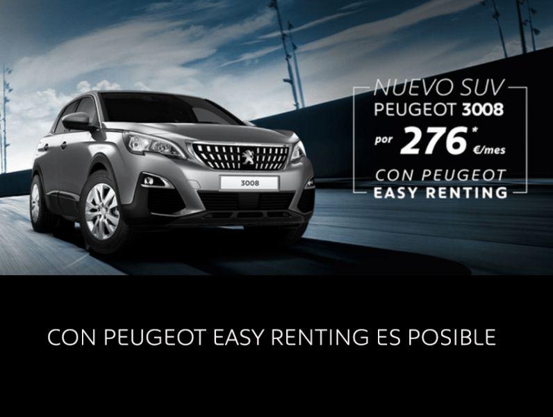 Nuevo Peugeot 3008 por 276€/mes