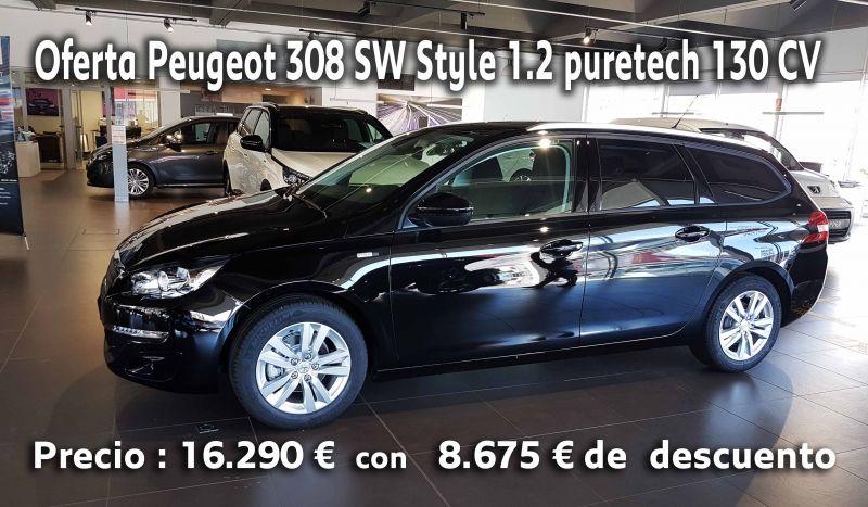 Oferta Peugeot 308 SW Style 1.2 puretech 130 CV : 16.290 € con 8.675 € de descuento