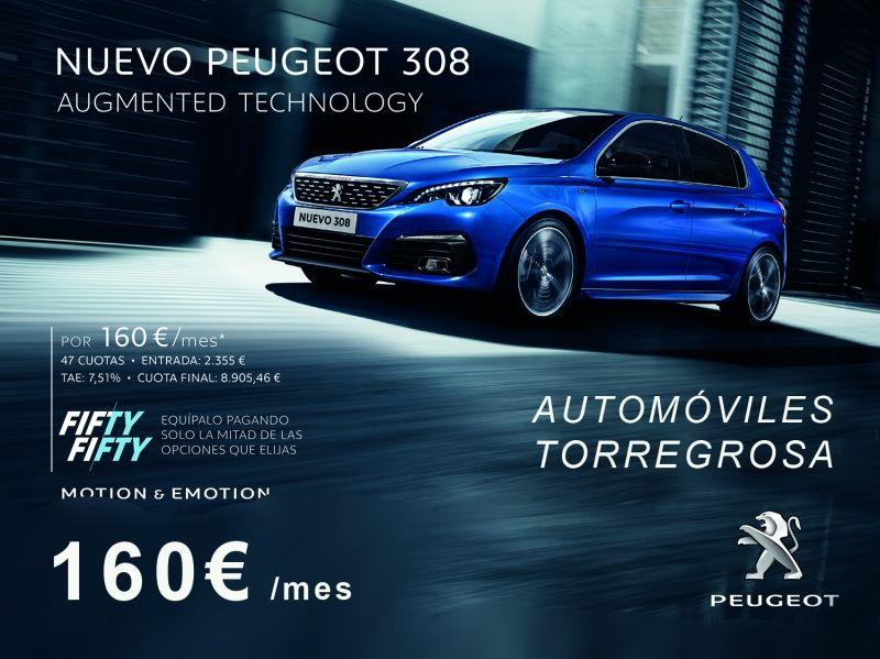 NUEVO PEUGEOT 308 P0R 160€/ MES