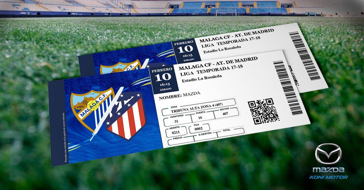 Sorteamos dos entradas para el partido Málaga - Atlético de Madrid en la Rosaleda