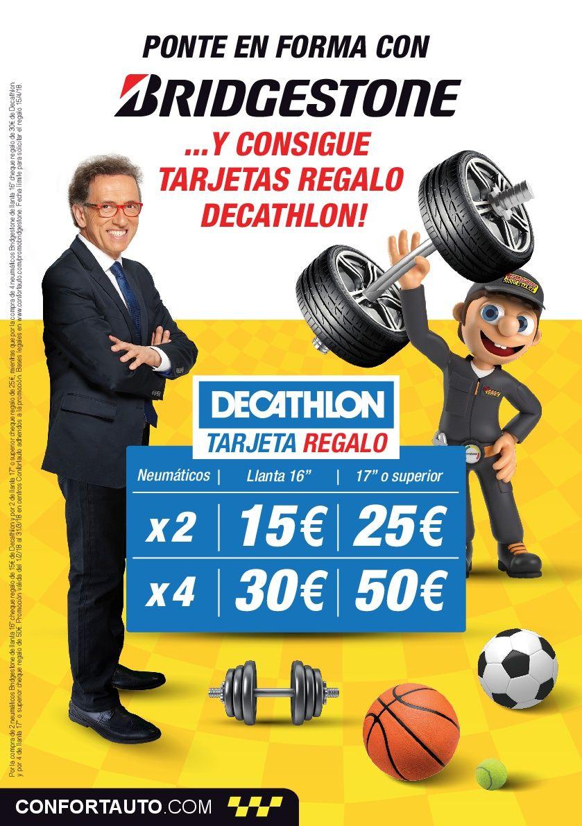 Consigue una tarjeta regalo Decathlon por valor de hasta 50 € al montar tus neumáticos Bridgestone en Hermanos Salvador Basauri , Vizcaya