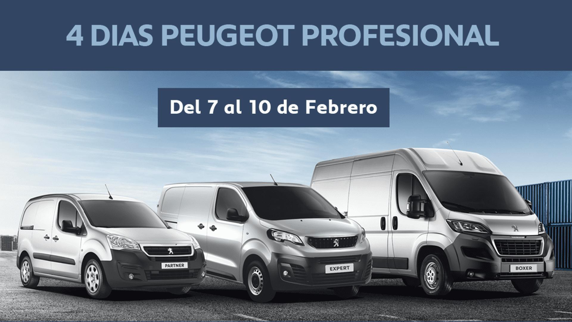 4 días Peugeot Profesional: nuestro único interés es tu negocio