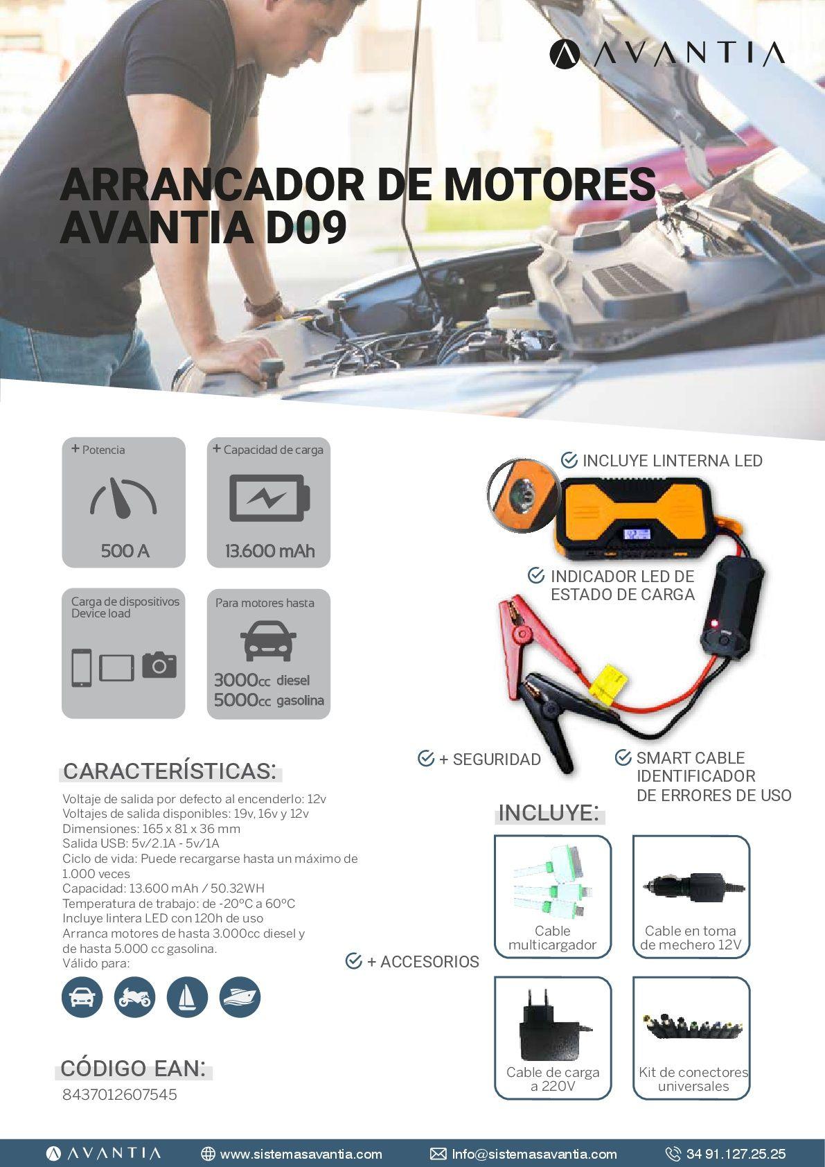 ARRANCADOR DE MOTORES AVANTIA D09          PVP: 95,60€