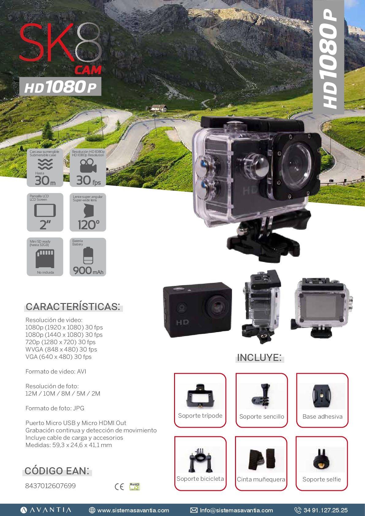 SK8 CAM 1080HD        PVP 45,00€