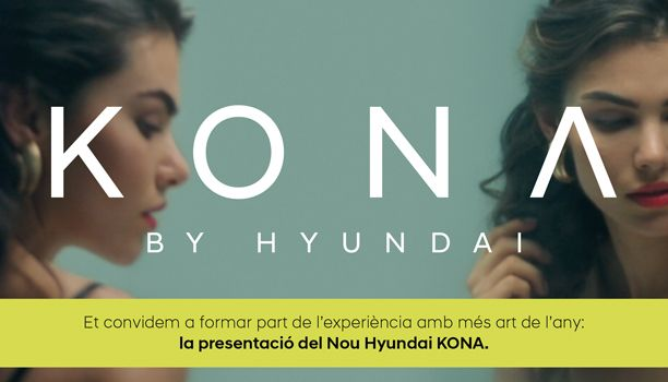 Et convidem a formar part de l'experiència  amb més art de l'any: la presentació del  nou Hyundai Kona.