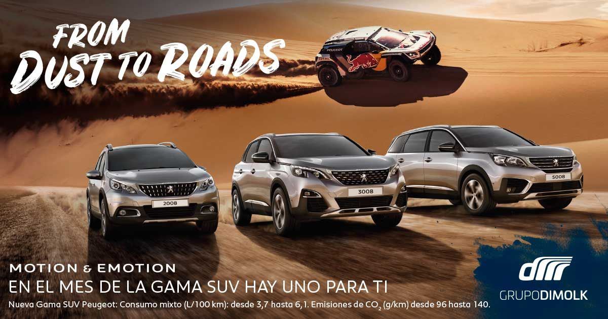 Febrero es el mes de la Gama SUV Peugeot, infórmate en Dimolk