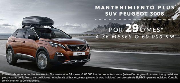 MANTENIMIENTO PLUS SUV PEUGEOT 3008