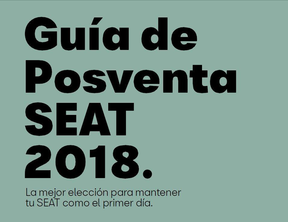 GUÍA DE POSVENTA 2018