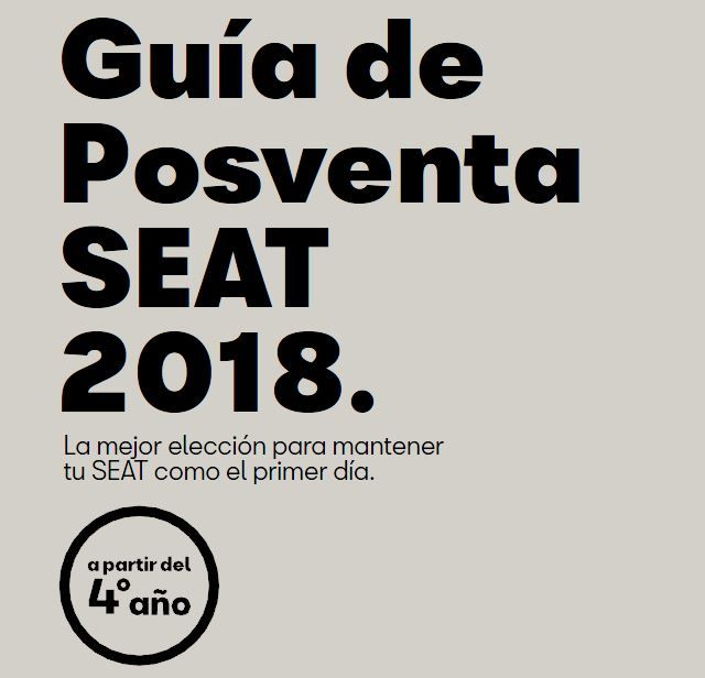 GUÍA DE POSTVENDA 2018 [+ de 4 anys]