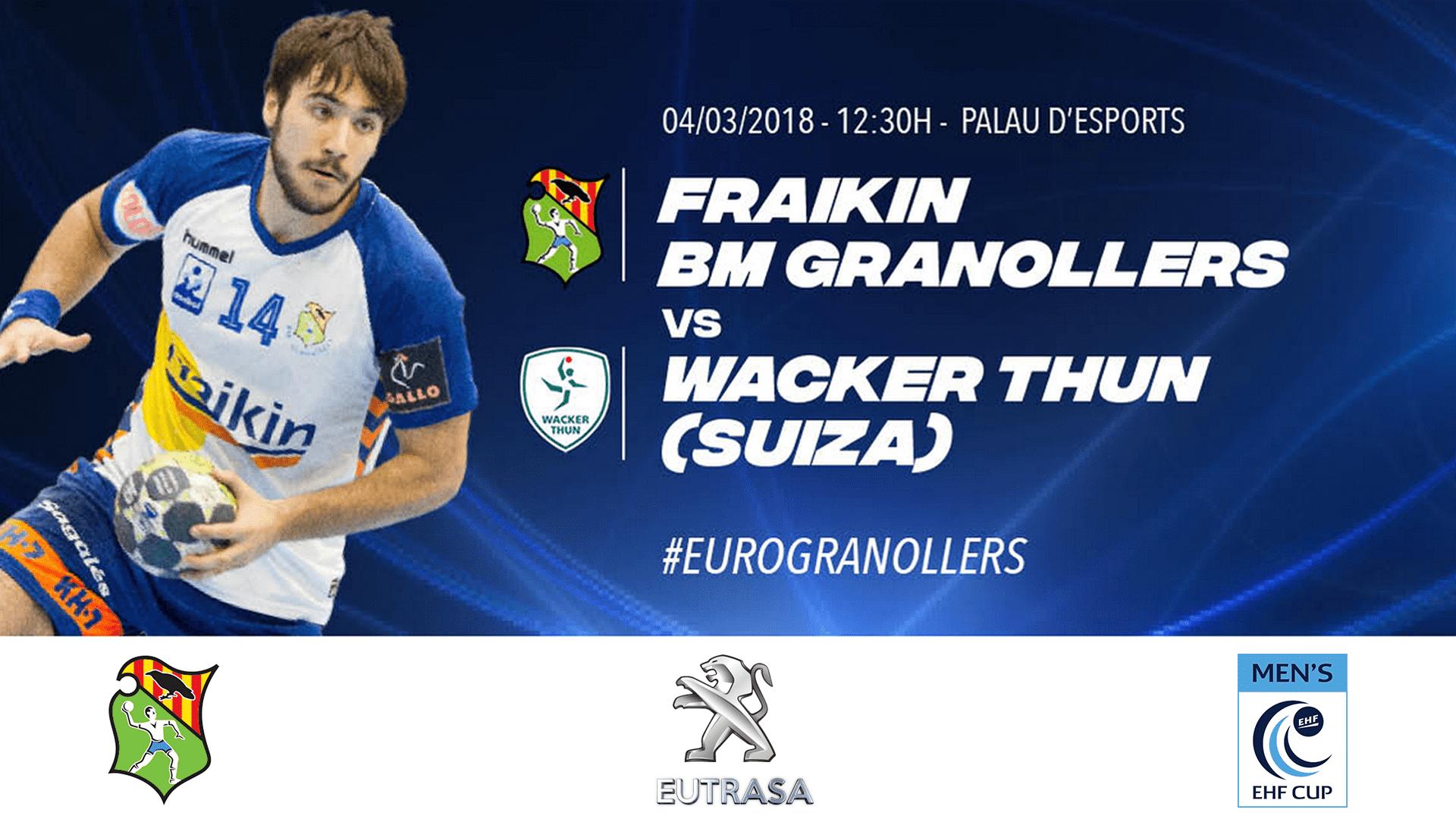 Eutrasa patrocina els partits de competició europea del Frainkin BM Granollers