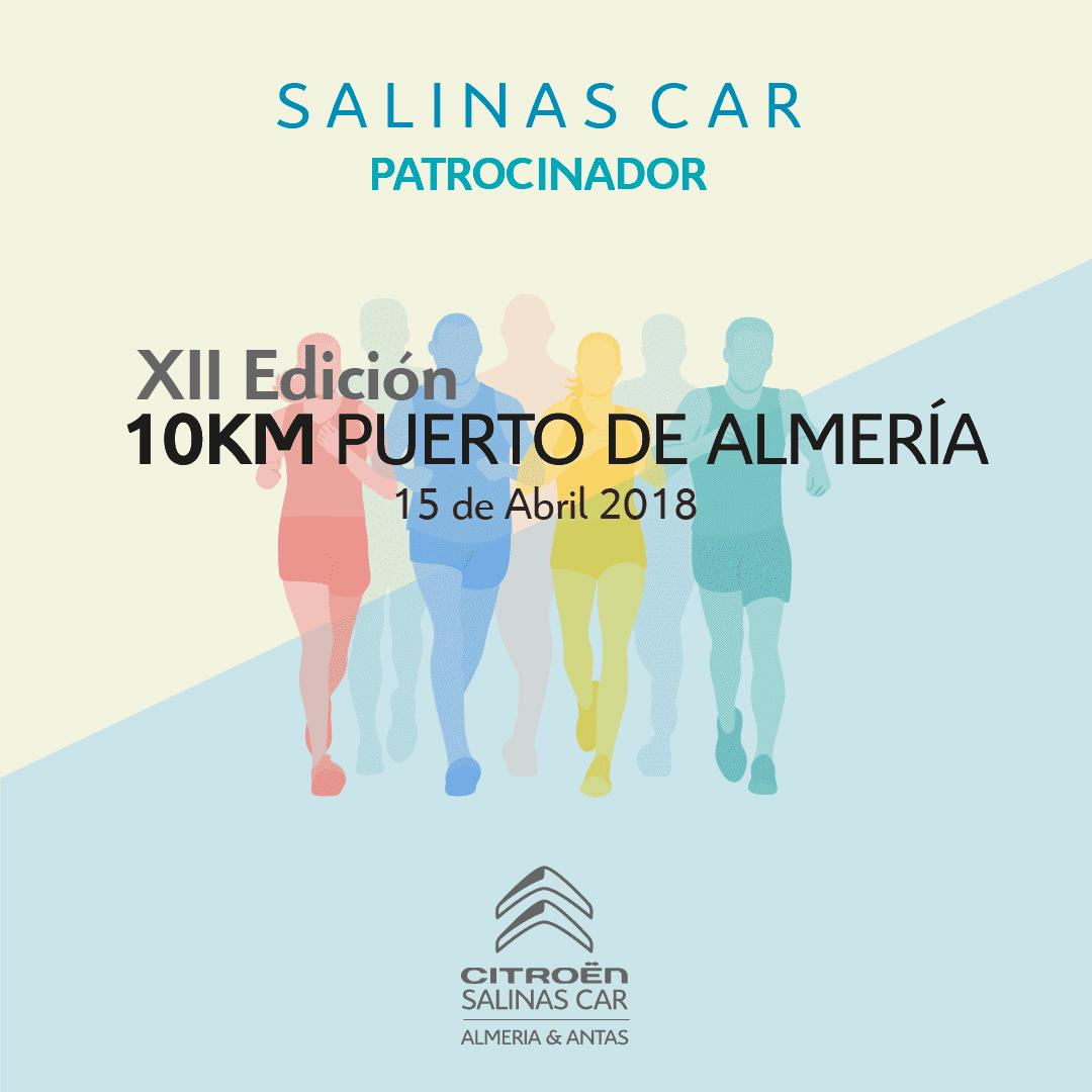 Salinas Car patrocinador oficial de la XII Edición 10KM Puerto de Almería