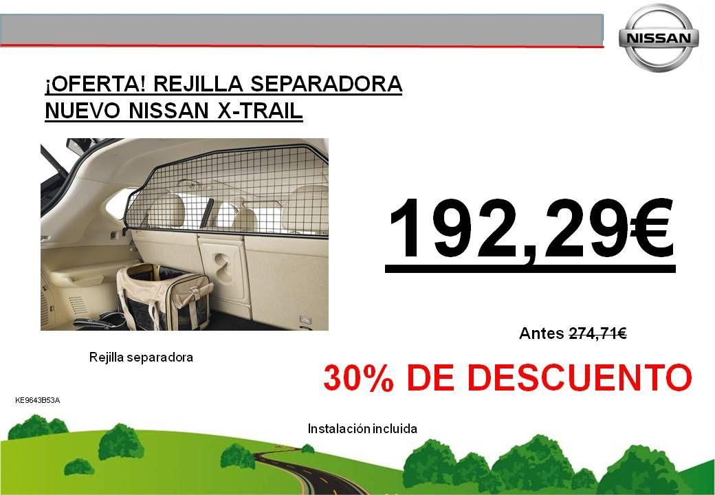 ¡OFERTA! REJILLA SEPARADORA NUEVO NISSAN X-TRAIL