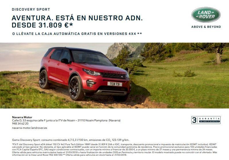LLEVATE UN DISCOVERY SPORT EN NAVARRA MOTOR POR 31.809 € *