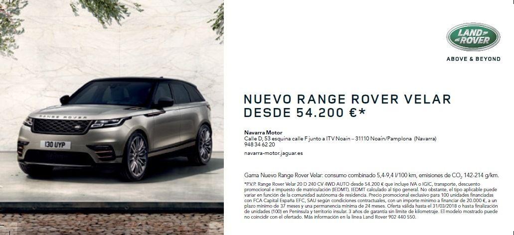 Nuevo Range Rover velar DESDE 54.200 €*