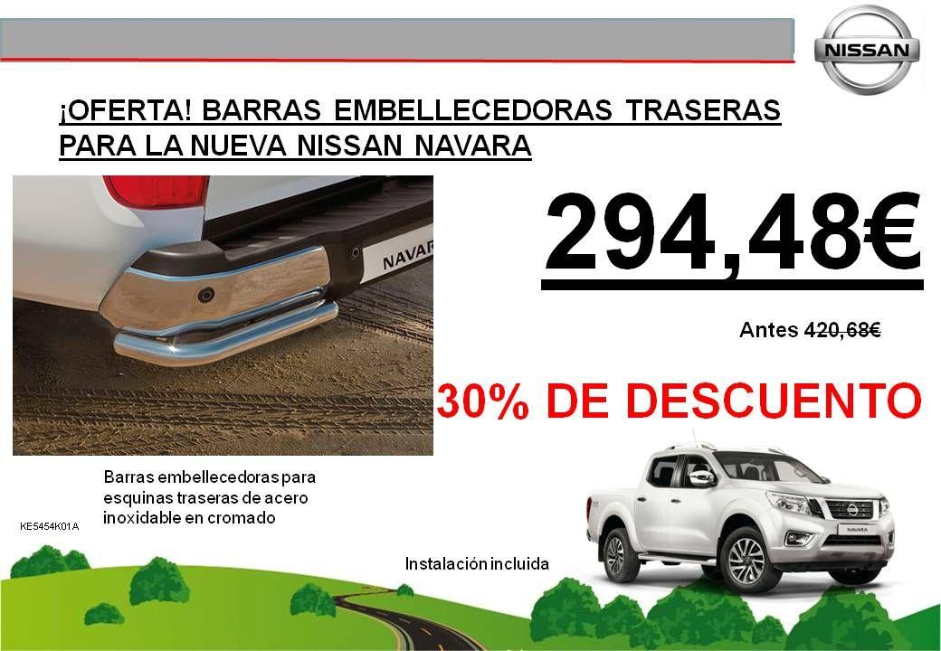 ¡OFERTA! BARRAS EMBELLECEDORAS TRASERAS PARA LA NUEVA NISSAN NAVARA - 294,48€