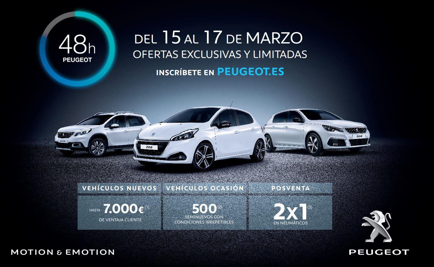 48 HORAS PEUGEOT del 15 al 17 de Marzo en Peugeot Alcalá 534