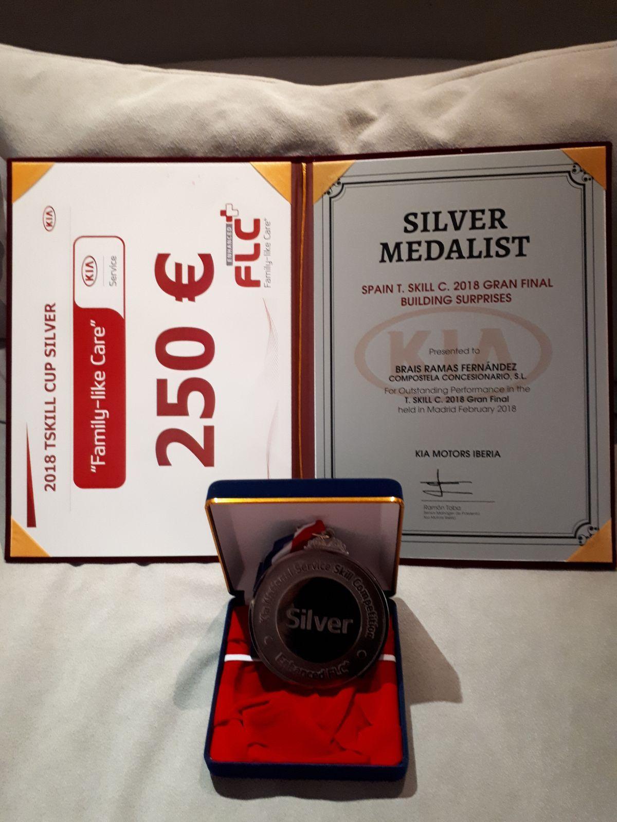 Medalla de plata en la SKILL CUP TÉCNICOS 2018 para uno de nuestros mecánicos