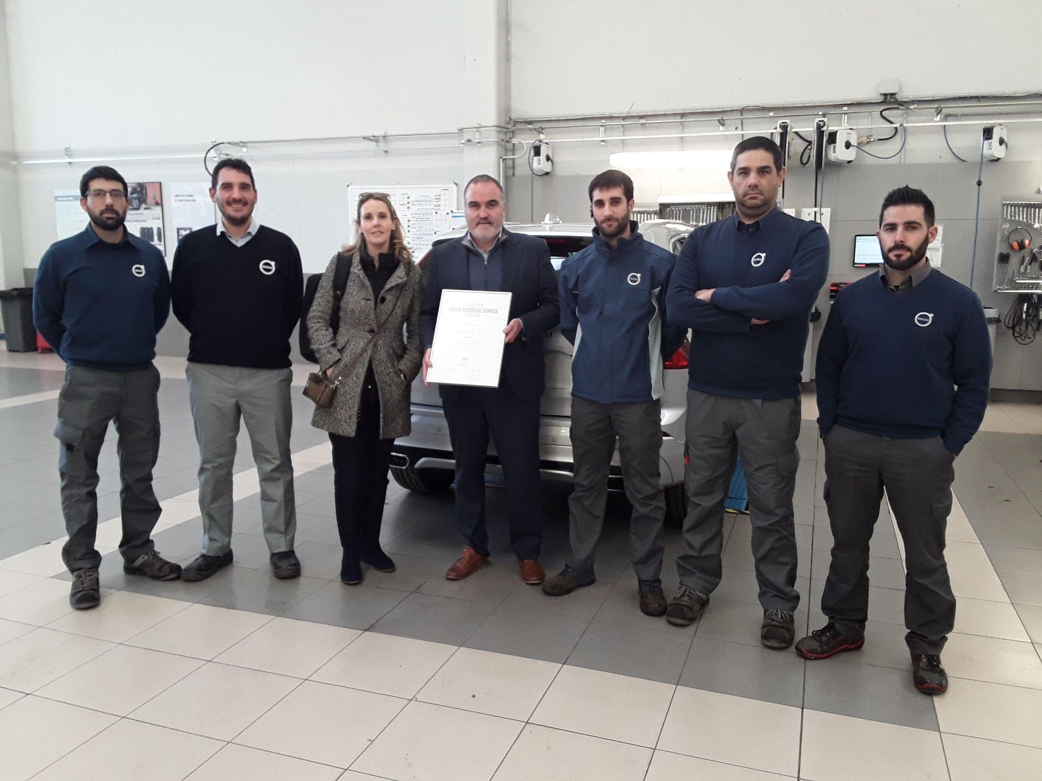 Navarsuecia ha sido nombrado Taller certificado Volvo Personal Service  por Volvo Car España