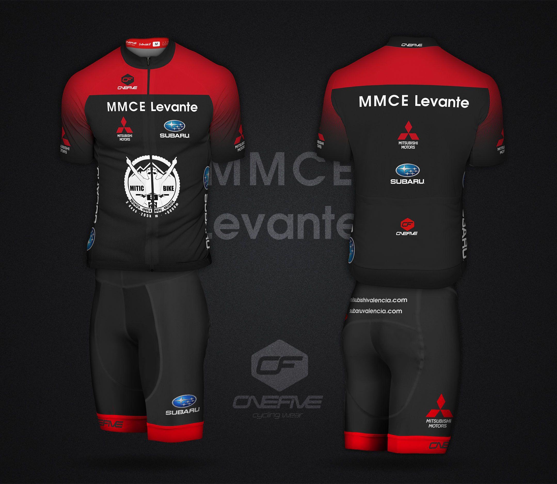 Mitsubishi Levante presenta sus maillots de ganadores de la Mitic Bike