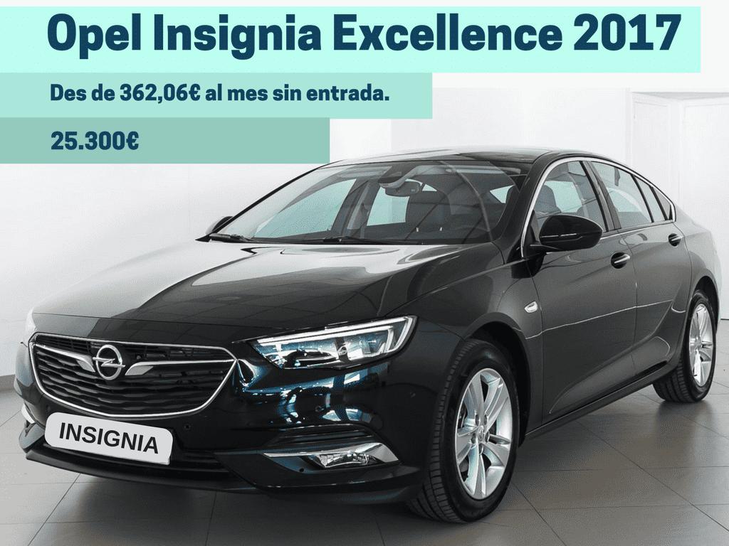 Opel Insignia 2017 des de 362€/mes, sense entrada!