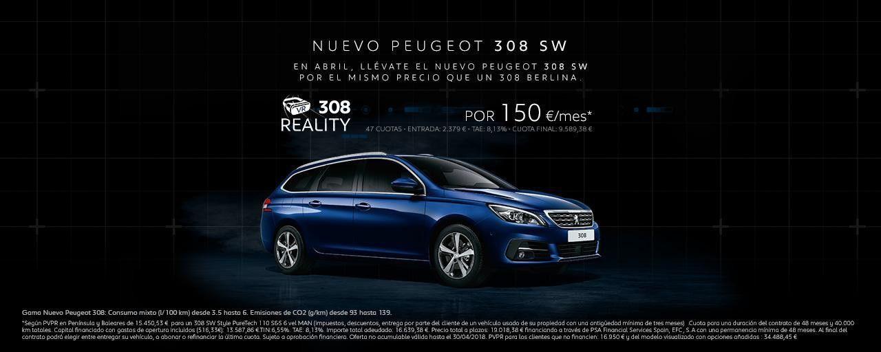 Nuevo Peugeot 308 por 150 euros al mes en Dimolk, Carballo, A Coruña