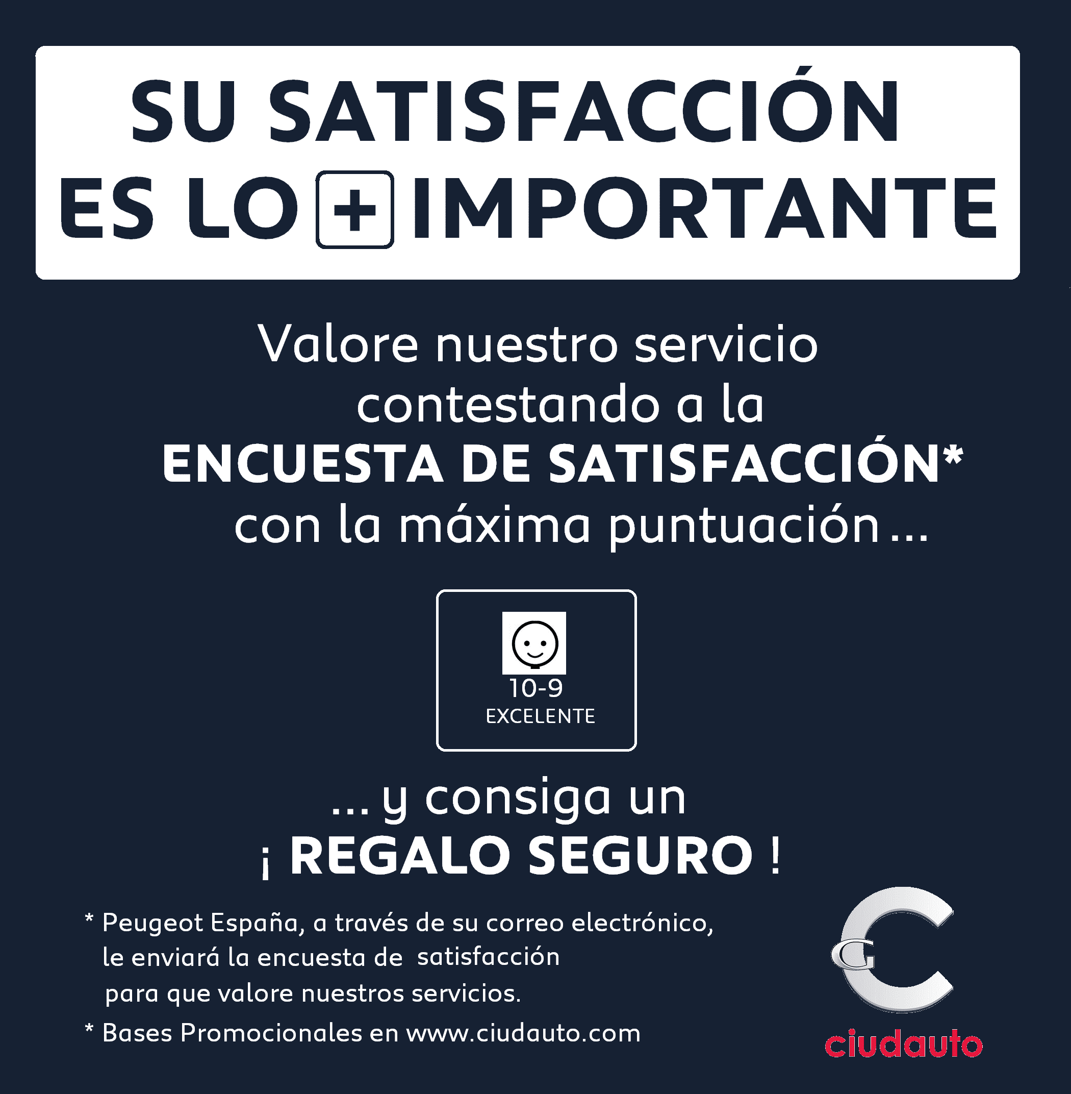 SU SATISFACCIÓN ES LO + IMPORTANTE