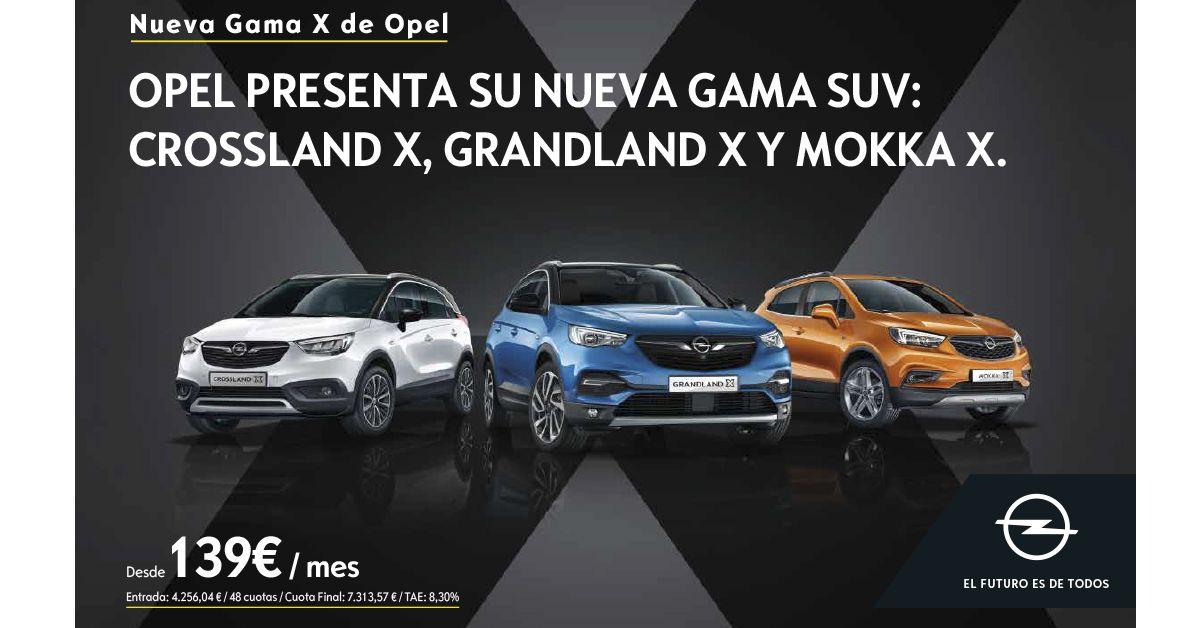 Nueva Gama X de Opel desde 139 €/mes