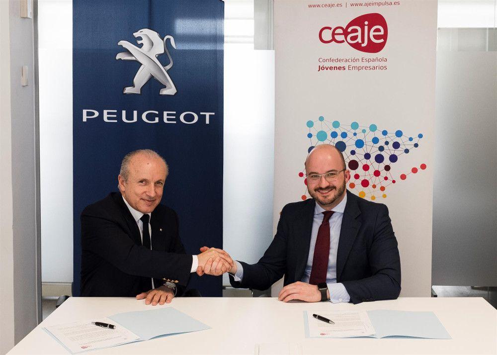 CEAJE y Peugeot prolongan su acuerdo de colaboración para facilitar la movilidad de los jóvenes empresarios